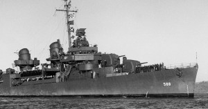 USS BURNS 1946. Photo Courtesy of Larry Cote.