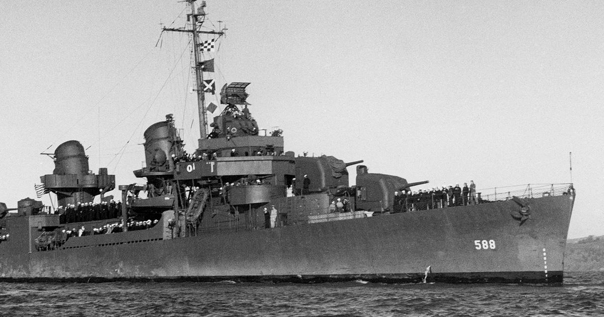 USS BURNS 1946. Photo Courtesy of Larry Cote.