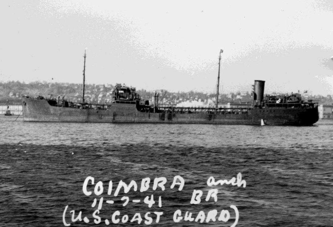 British Steam tanker Coimbra. US Coast Guard Photo.