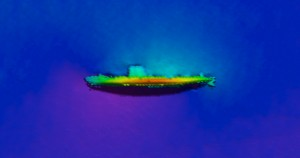USS BLENNY (SS-324) 1m resolution multibeam.