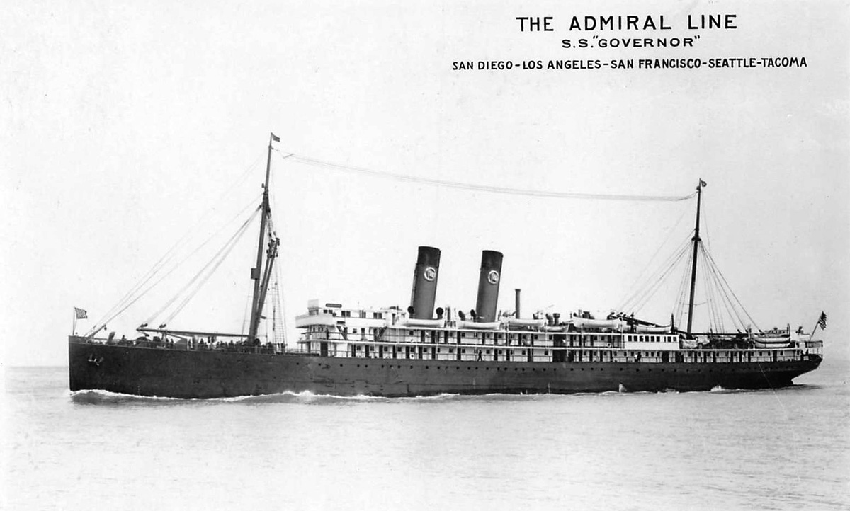 SS Governor. Photo from the Pacific Coast Steamship Co.