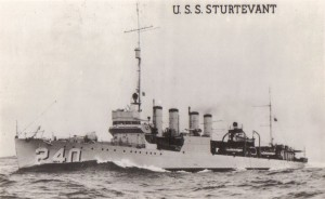 USS Sturtevant (DD-240). U.S. Navy photo courtesy of Navsource.org.