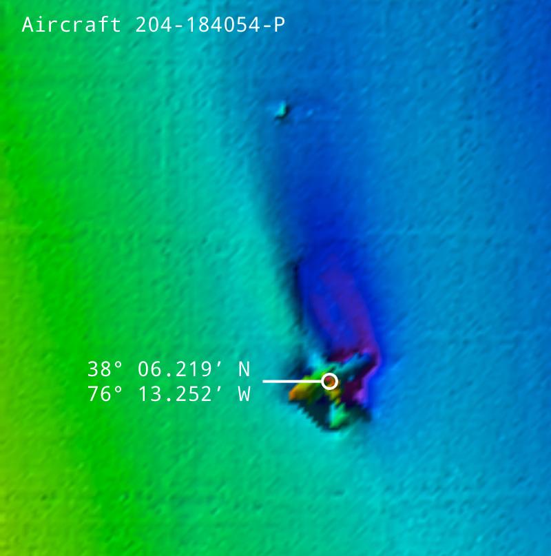 Aircraft 204-184054-P Coordinates